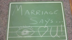 Marriage says.... I love you